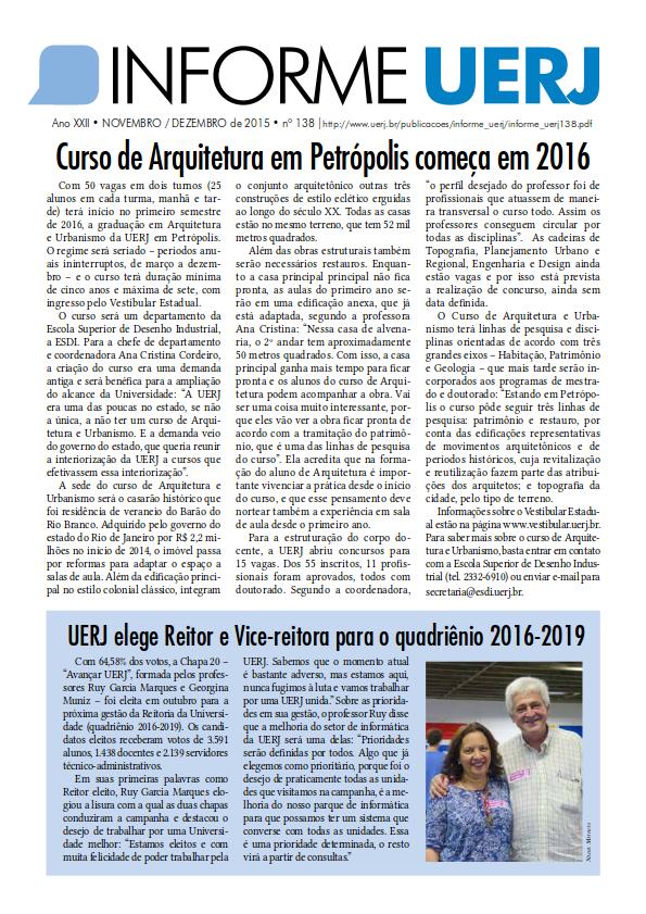 Informe UERJ<br>Edição Nº 138