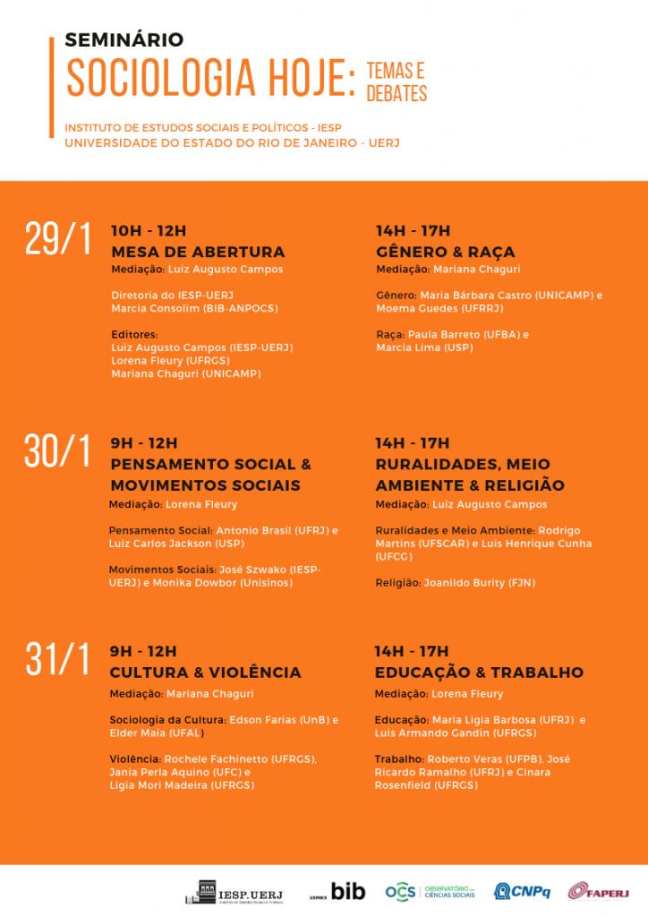 """Seminário """"Sociologia Hoje: temas e debates"""""""